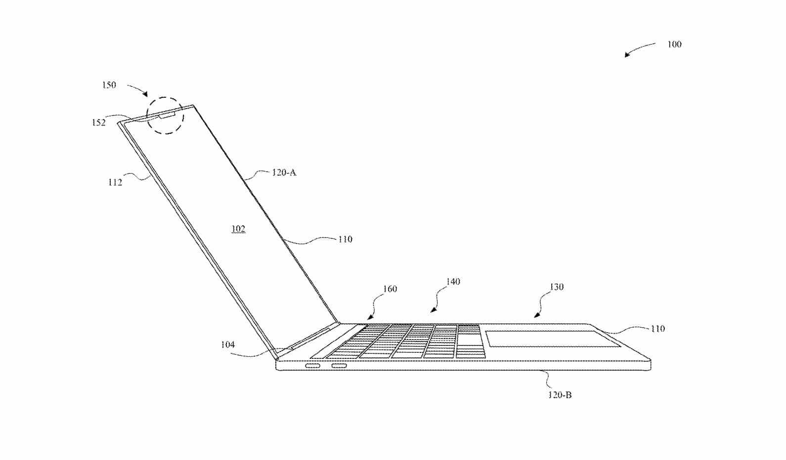 MacBook Pro mit Face ID - Patentskizze