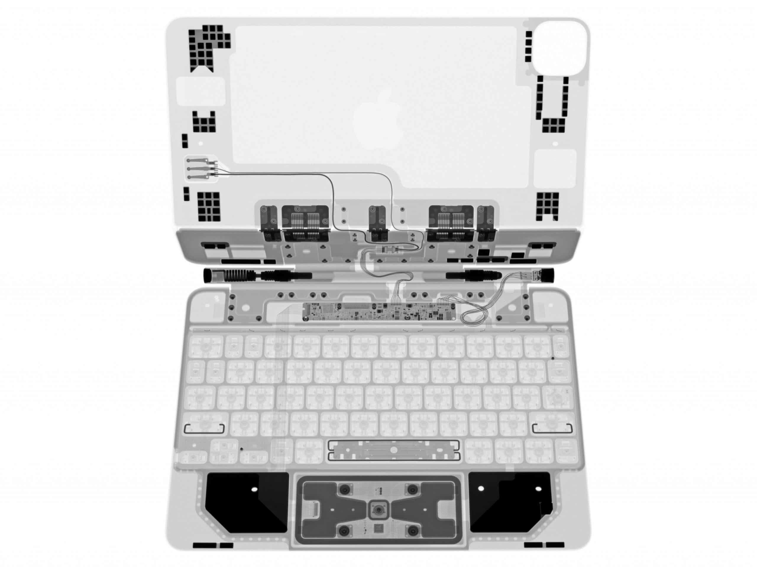 Magic Keyboard fürs iPad Pro im Röntgengerät