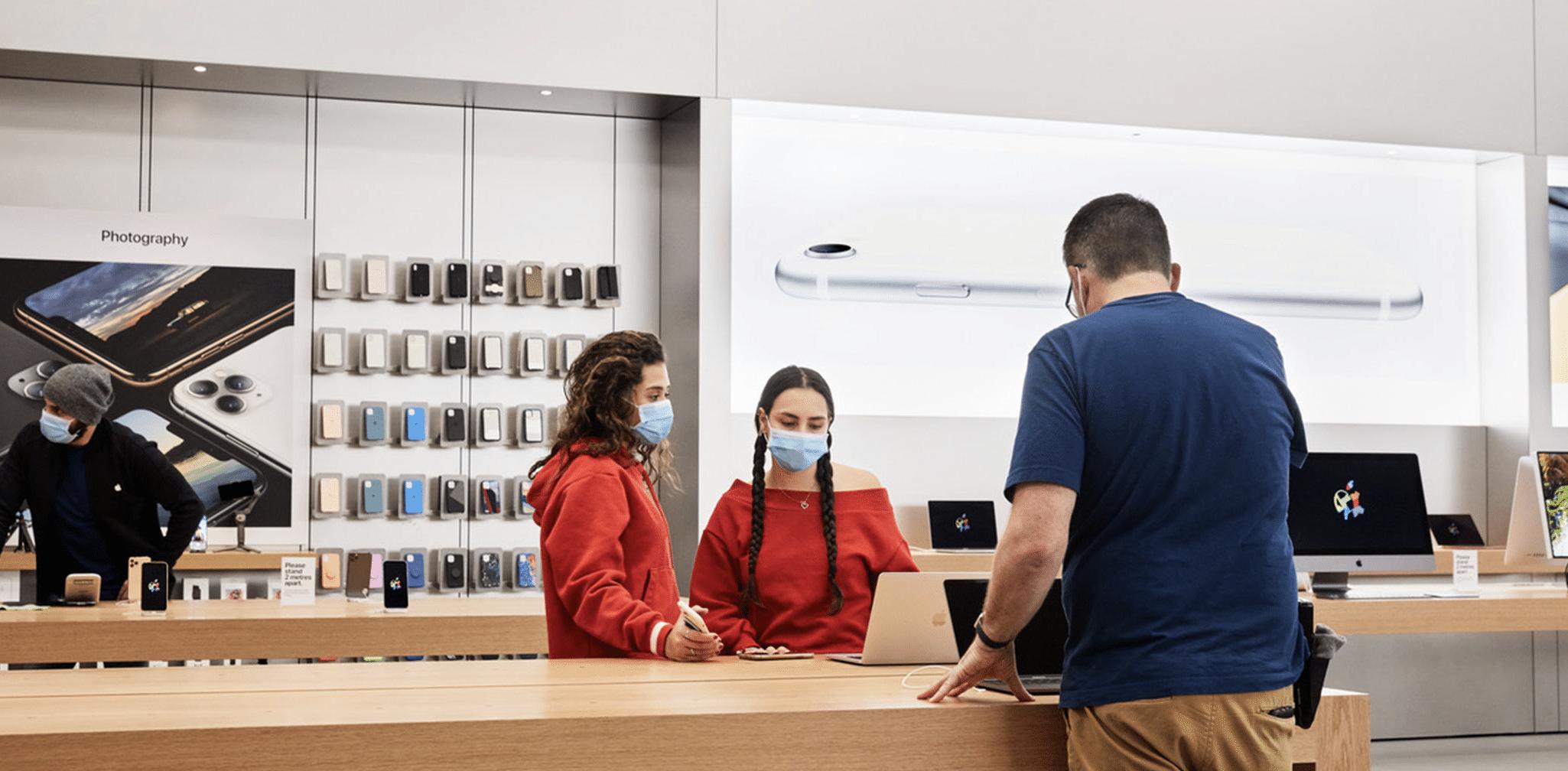 Kundinnen im Apple Store