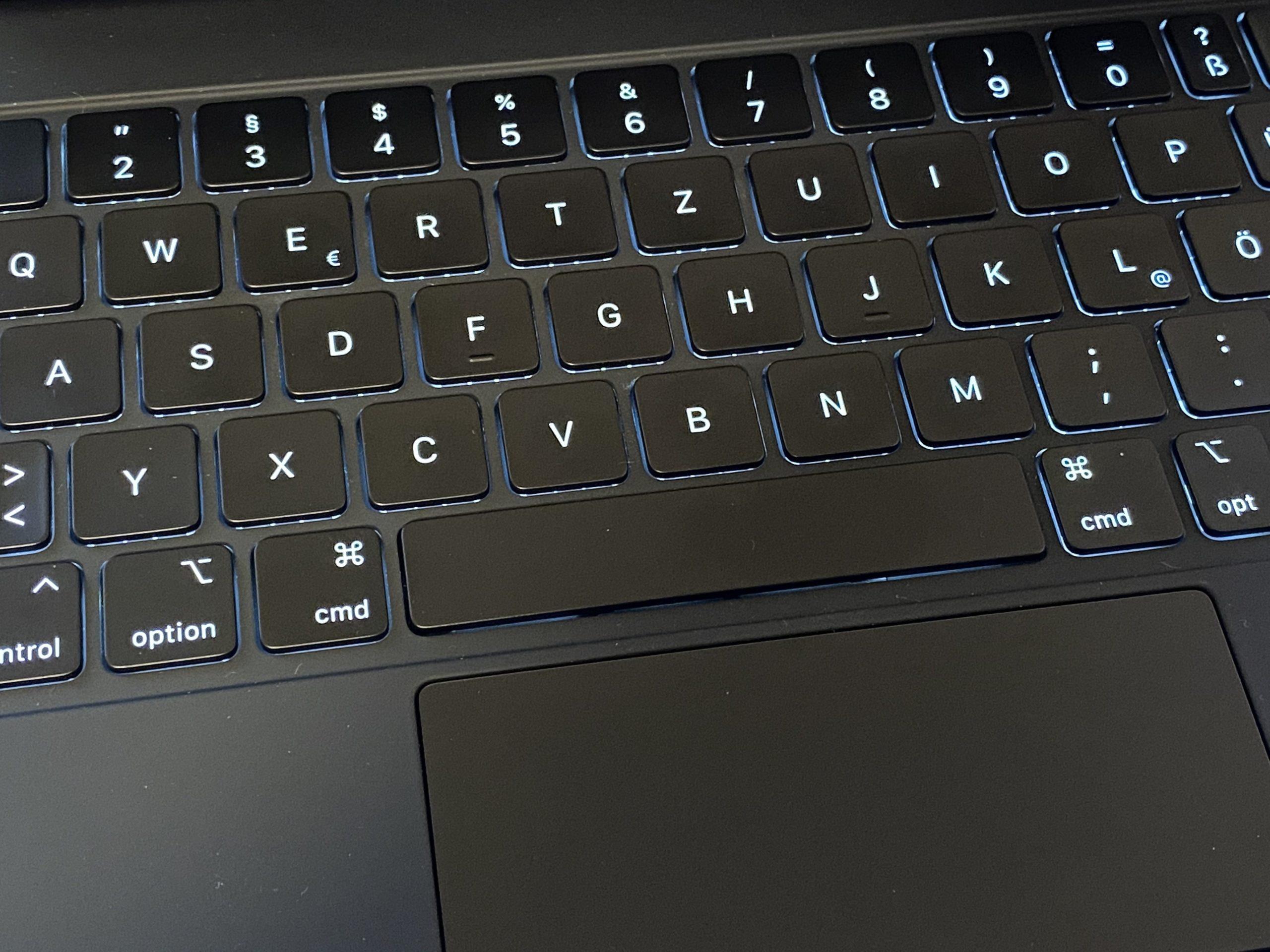 Magic Keyboard fürs iPad Pro mit Hintergrundbeleuchtung