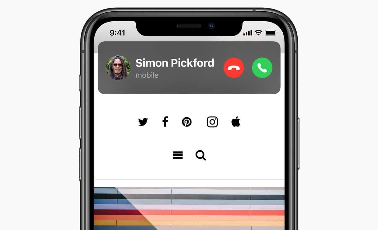 Eingehende Anrufe in iOS 14