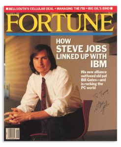 Fortune Magazin mit Steve-Jobs-Autogramm