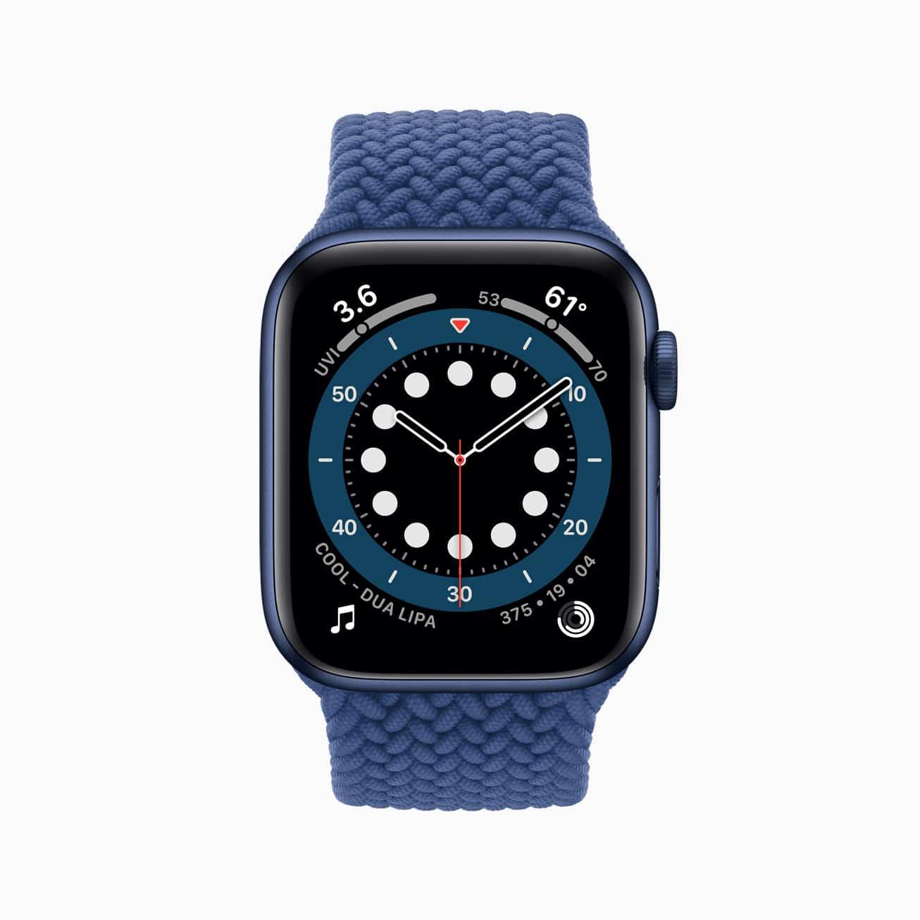 Apple Watch Series 6 mit geflochtenem Solo Loop
