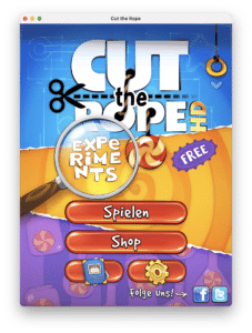 Cut the Rope auf dem Mac mit Apple Silicon