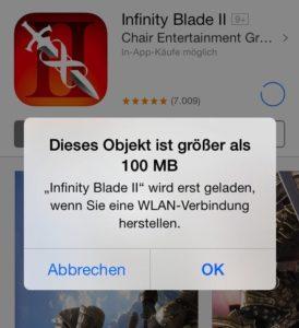 Apple: Neues Downloadlimit auf iPhone und iPad