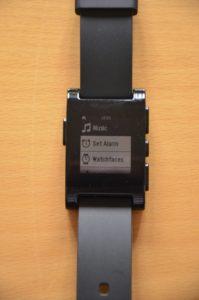Das Menü der Pebble Smartwatch