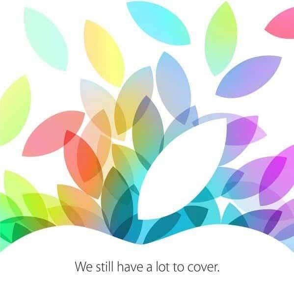 """Einladung von Apple für den 22. Oktober """"We still have a lot to cover."""""""