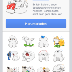 "Facebook-Messenger auf iPhone mit Zuckerbergs Hund ""Beast"" als Sticker Pack"