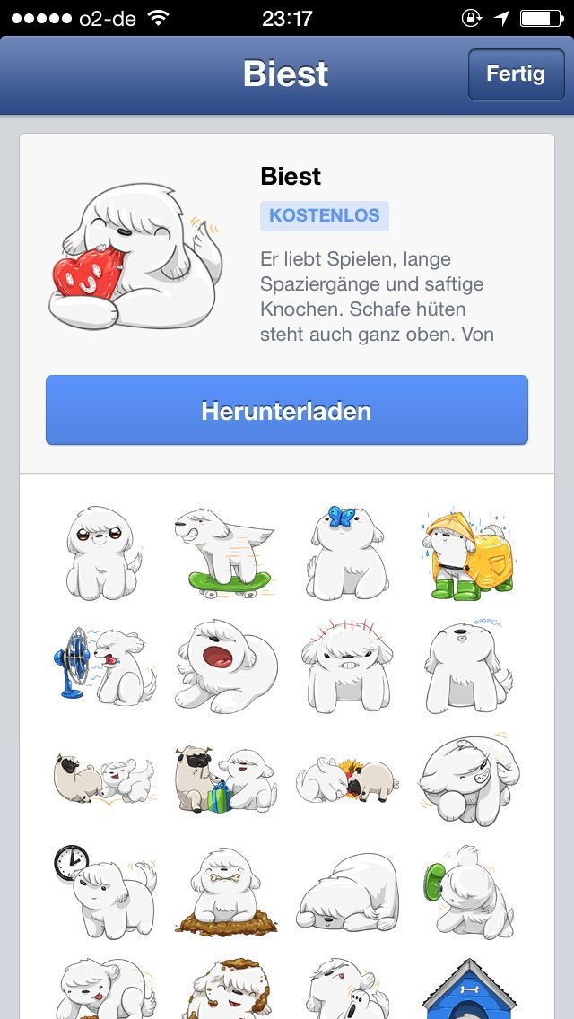 Biest Sticker Pack für Facebook-Messenger