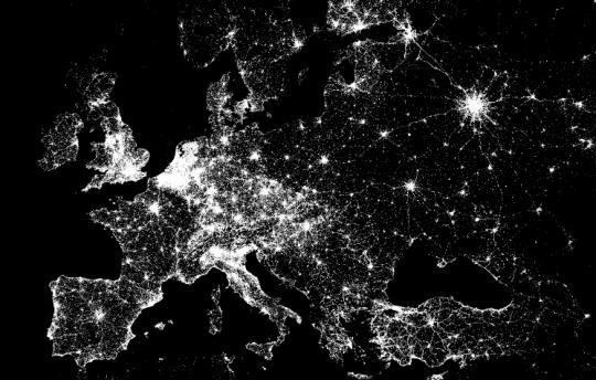 Foursquare-Check-ins Europa, Abbildung von Foursquare