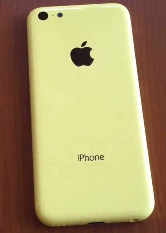 Gelbe Rückseite des iPhone 5C
