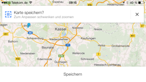 Mit Google Maps können ab sofort Karten auf dem Geräte gespeichert werden