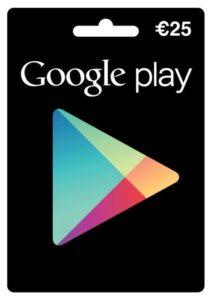 Google Play Store -Geschenkkarte