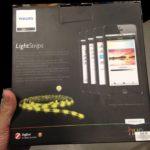 Philips Hue: LED-Leuchtstreifen Rückseite der Verpackung, Foto: The Verge