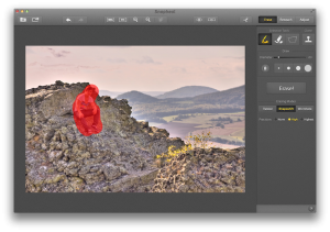 Snapheal dient in erster Linie dazu mit ein paar Pinselstrichen ungewünschte Elemente aus einem Foto zu entfernen.