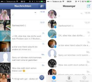 Facebook Messenger - alt gegen neu