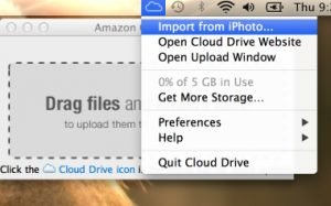 Amazon Cloud Drive iPhoto-Import