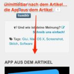 App aus dem Artikel am iPhone