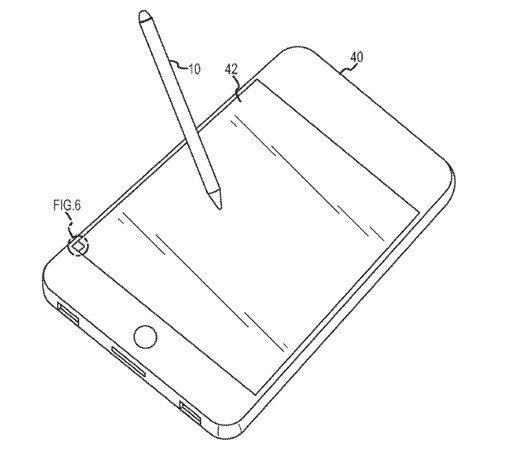 Apple Grafik zum Patent des Optical Stylus