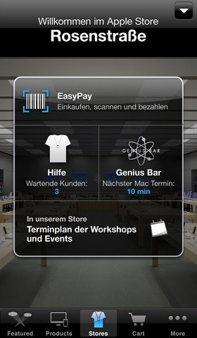 Apple-Store-App EasyPay-Funktion