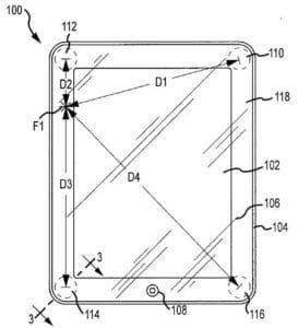 Skizze zum Apple-Patent für drucksensitive Touchscreeneingaben