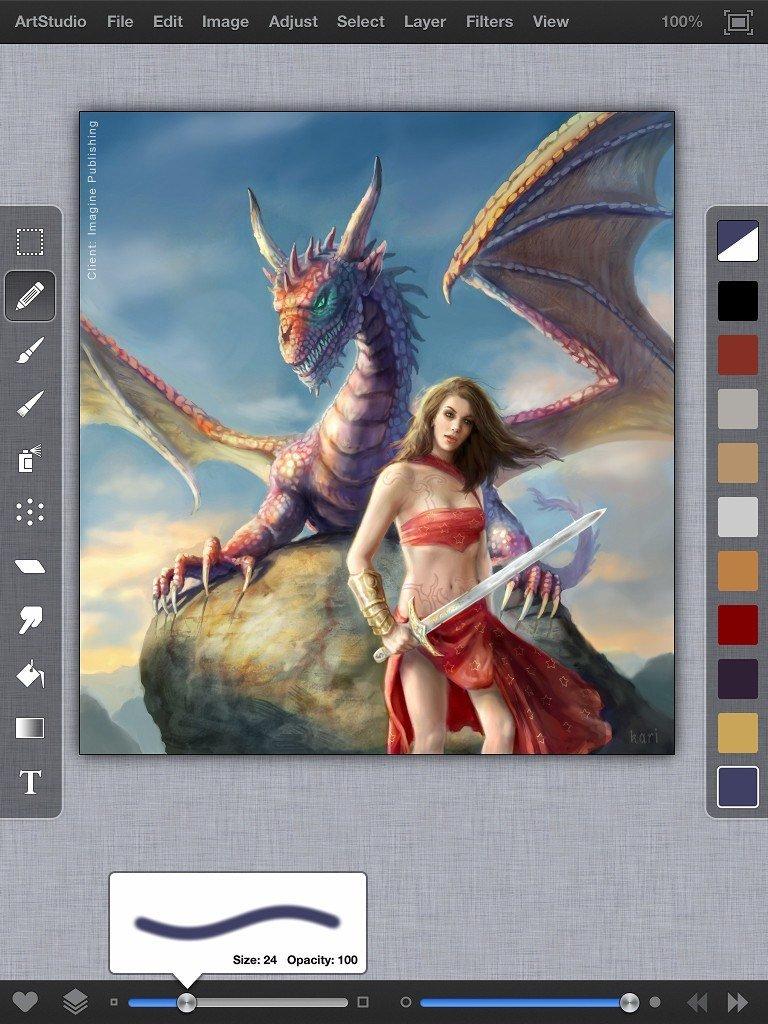 ArtStudio für iPad mit komplett neuer Bedienoberfläche