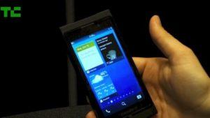 BlackBerry 10 im Einsatz, Bild: TechCrunch