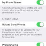 iOS 7.1: Burst-Mode Fotostream-Upload. Bild: 9to5Mac.