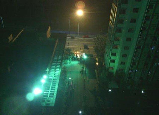 Handyfoto von Ausschreitungen von Foxconn-Mitarbeitern in Chengdu