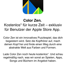 Gratis-App mit Apple Store App laden