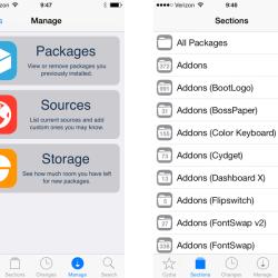 Cydia an iOS 7 Design angepasst