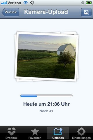 Dropbox iPhone Kamera-Upload