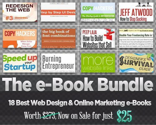 E-Book-Bundle zum Thema Webdesign und Online-Marketing