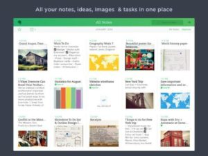 Evernote - Screenshot iPad