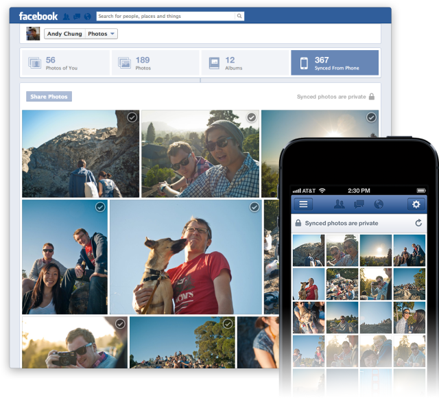 Facebook Photo Sync für iOS