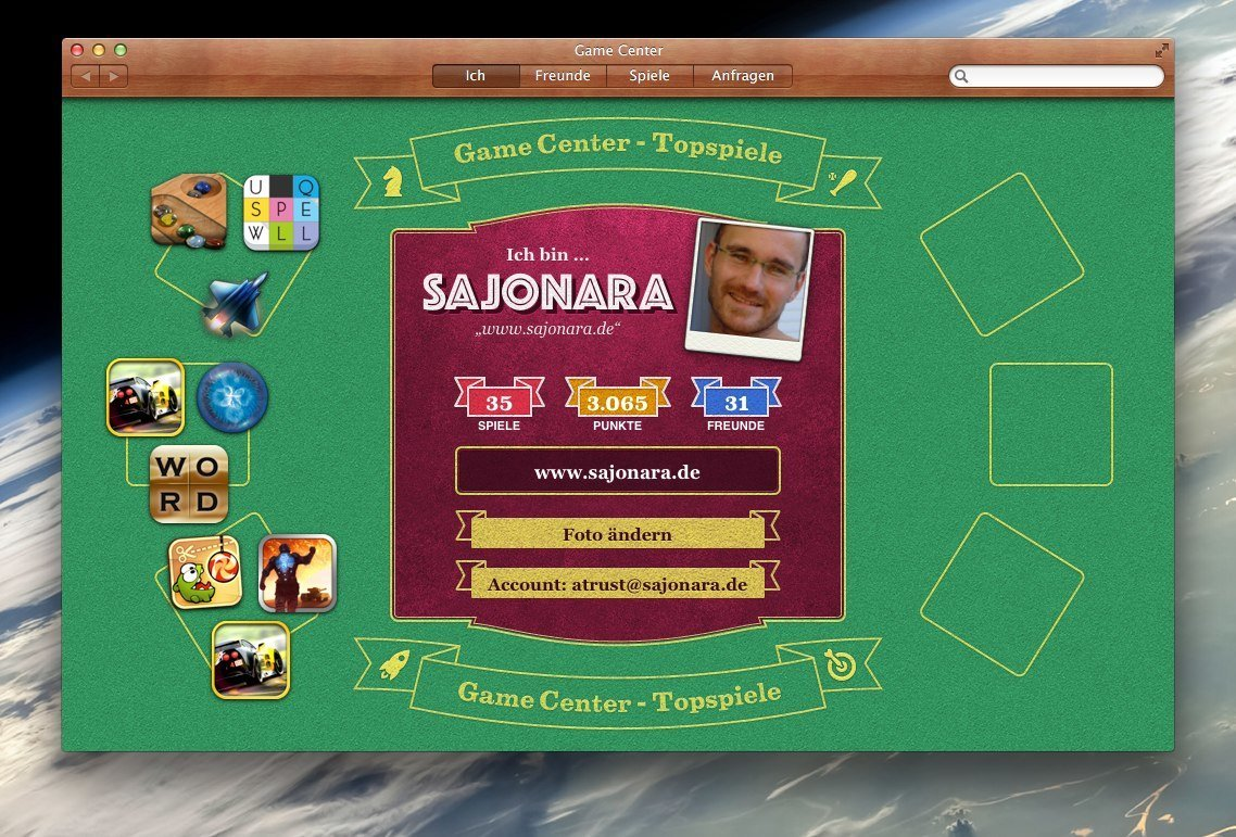Game Center und Mac OS X: kompatible Spiele