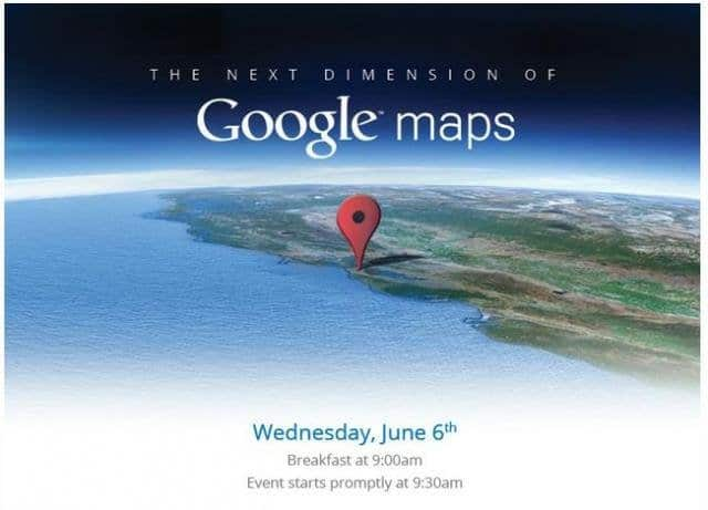 Google Maps Presse-Event am 6. Juni 2012 in San Francisco