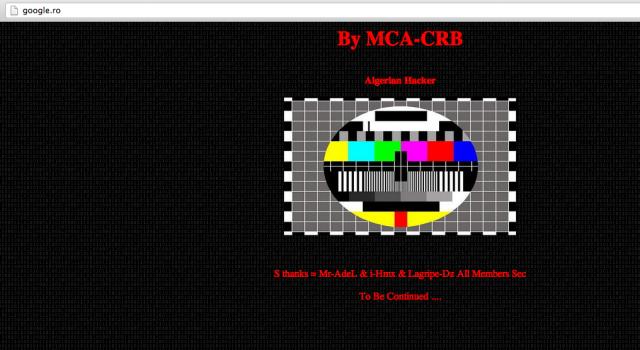 Google.ro gehackt – Screenshot von TechCrunch