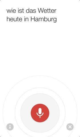 Update 2.5 für Google-Suche für iOS mit verbesserter Spracheingabe