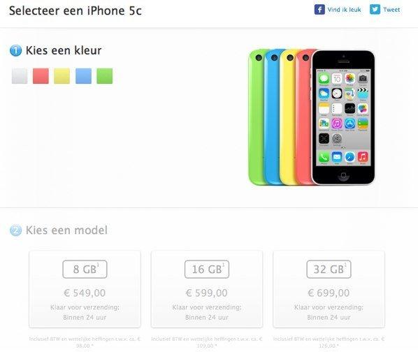 iPhone 5c 8 GB Speicher-1