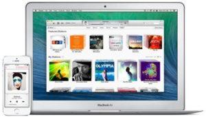 iTunes auf iPhone und MacBook