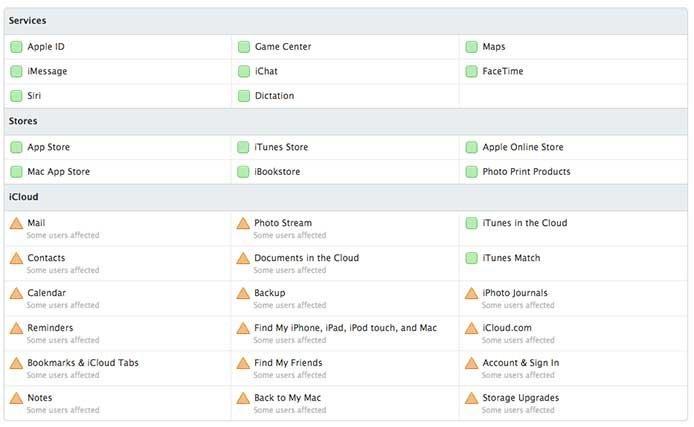 iCloud-Ausfall 17. Dezember