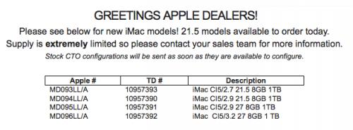 Auslieferungsstart iMac