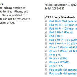 iOS 6.1 Beta und Xcode 4.6 Beta an Entwickler ausgeteilt