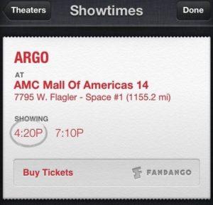 Kinokarten kaufen über eine neue SIRI-Funktion in iOS 6.1 Beta