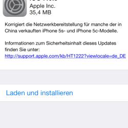 iOS 7.0.5 für iPhone 5c und iPhone 5s veröffentlicht