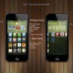 iOS 7 - Konzeptgrafik iPhonesoft.fr