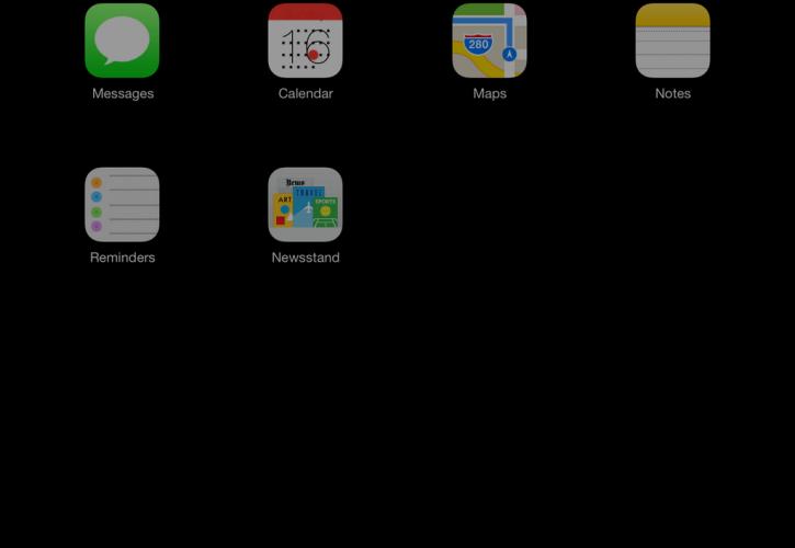 iOS 7 – Control Center auf dem iPad
