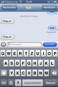 iOS kann File:/// nichts anhaben
