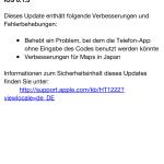 iOS 6.1.3 Änderungen